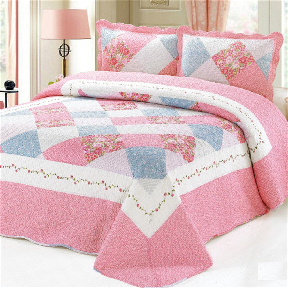 Abreeze Ballet Girls Coverlet Quilt Bedspread for Kid's Girls Bed Gift for Dormitories,Twin Size