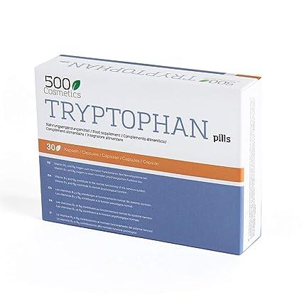 500Cosmetics Tryptophan - Cápsulas Naturales contra el ...