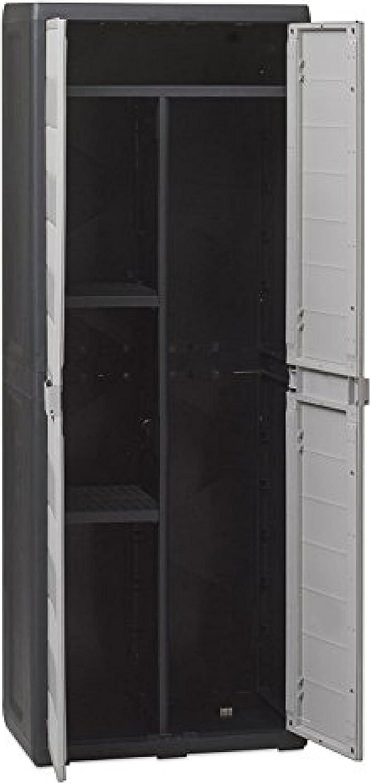 de 65/cm de largo x 38 cm de profundidad x 171/cm de altura modelo Elegance Armario escobero de resina mueble multiuso para el aire libre