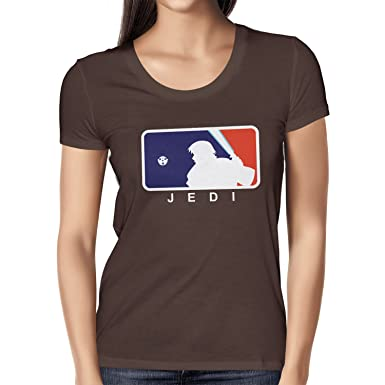 NERDO Major Jedi League - Damen T-Shirt, Größe S, Braun