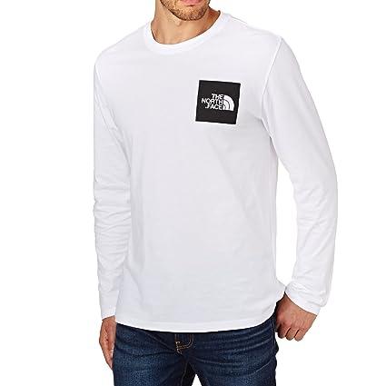 North Face M L/S Fine tee - Camiseta, Hombre, Blanco - (TNF