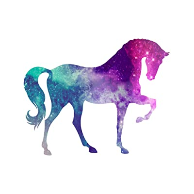 Vinyl Junkie Graphics Horse Custom Sticker Graphic Decal for Notebook car Truck Laptop Many Color Options (Starry Sky): Automotive