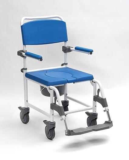 Disco DeVilbiss Healthcare Aston funda para silla/silla de ducha con cuatro ruedas de freno