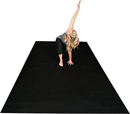 Square36 New 10 Ft x 6 Ft Extra Large Yoga Mat. Made in Germany (Tested & Certified). Designed for Barefoot Home Yoga, Rehabilitation, Pilates & ...