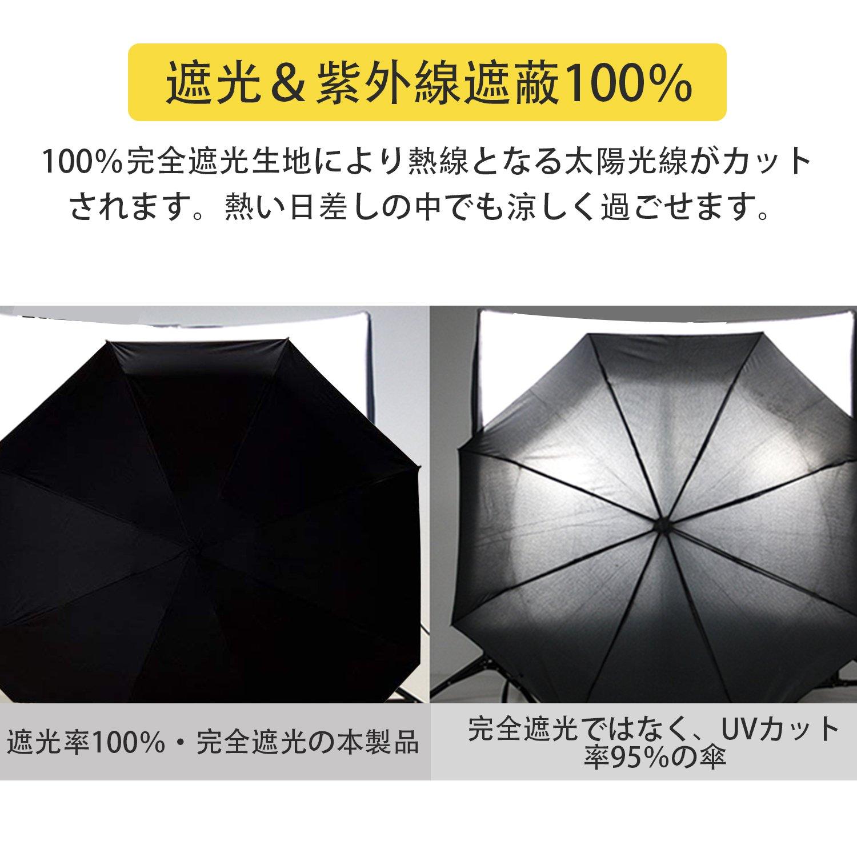 二年保証!UVカット 100%の超軽量 折りたたみ晴雨兼用 傘