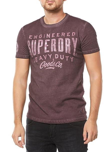 Superdry Camiseta de Men Work Wear Over Dyed Fig Marl Fig Marl X ...