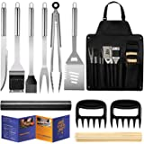 Veken BBQ Grill Accessories, Stainless Steel BBQ Tools Set for Men & Women Grilling Utensils Accessories with Storage…
