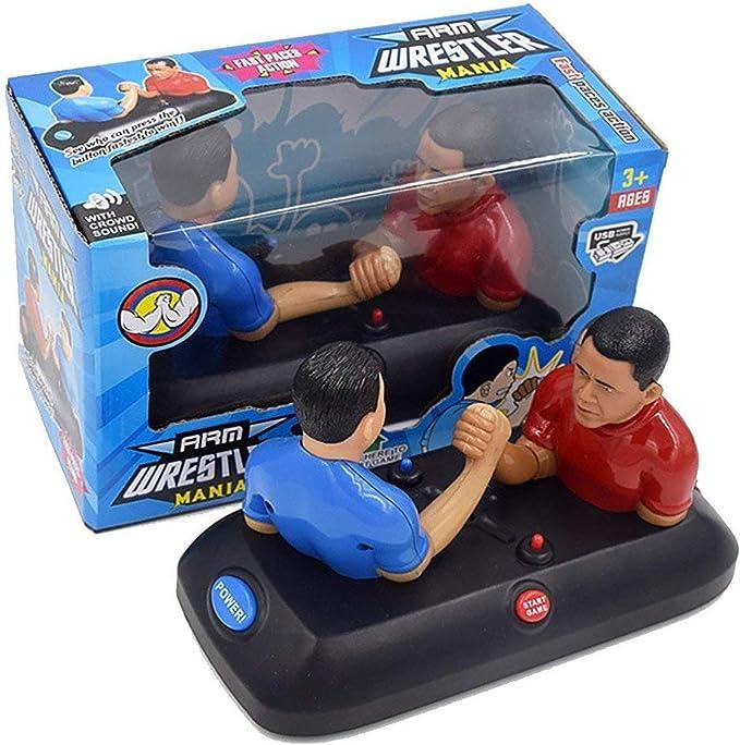 Hwamart Lucha del Brazo Novedad Juego de Mesa, Llave de la muñeca de la máquina de Juegos de Mesa con Sonido Compacto Regalo Creativo para el cumpleaños de los niños: Amazon.es: Juguetes
