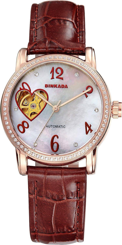 BINKADA self-motionホワイトダイヤルメスWomen 's Watch # 7073 W02 – 3 B0150P03WE
