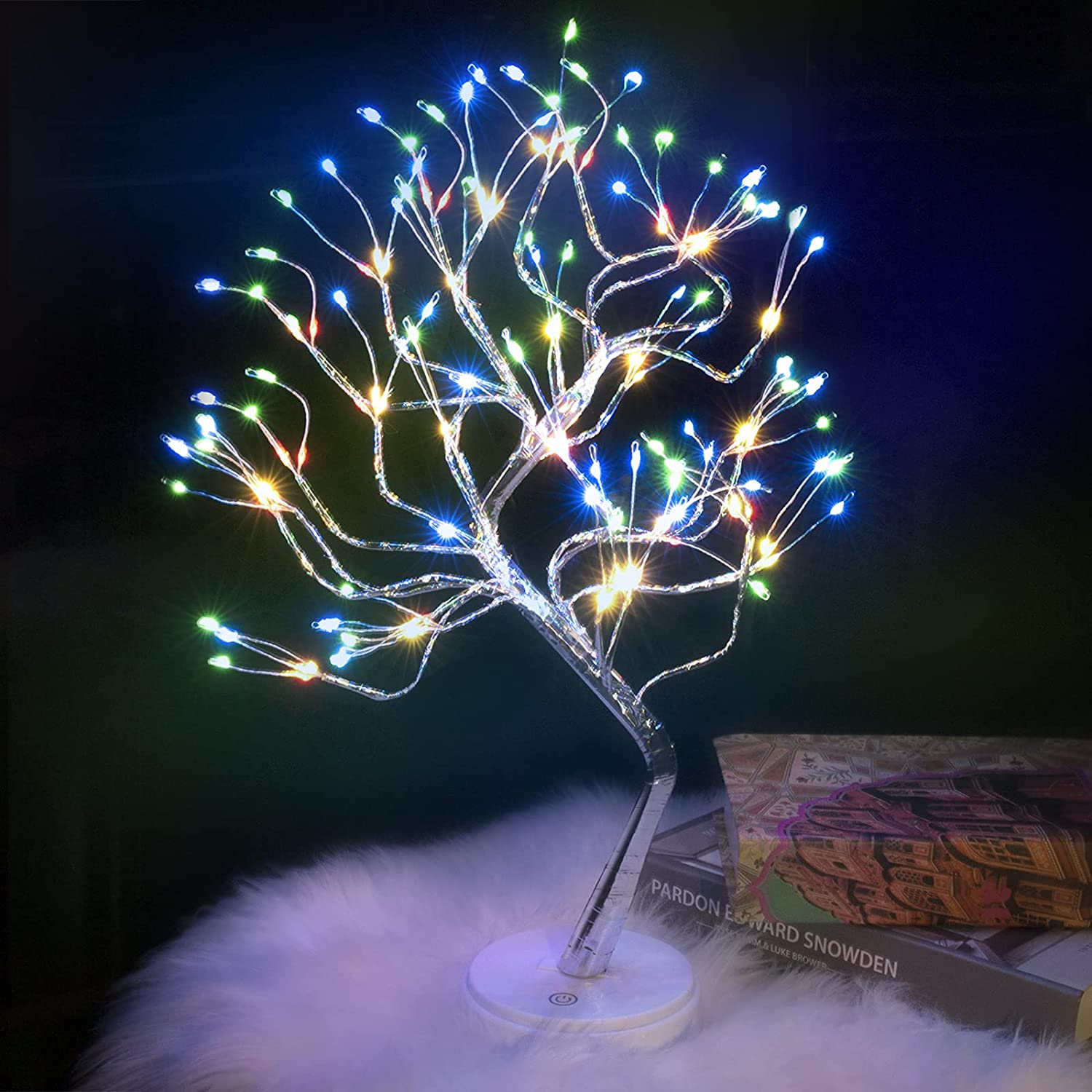Tabletop Bonsai Tree Light - 20'' Fairy Light Spirit Tree Lamp with 108 LED Lights,DIY Lit Artificial Tree Lights Decoration for Gift Home Bedroom Wedding Festival Party (Multicolor)