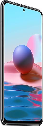هاتف شاومي ريدمي نوت 10 ثنائي شرائح الاتصال بذاكرة رام 4 جيجا وذاكرة تخزين داخلية 128 جيجا ويدعم شبكة اتصال الجيل الرابع - لون رمادي اونيكس