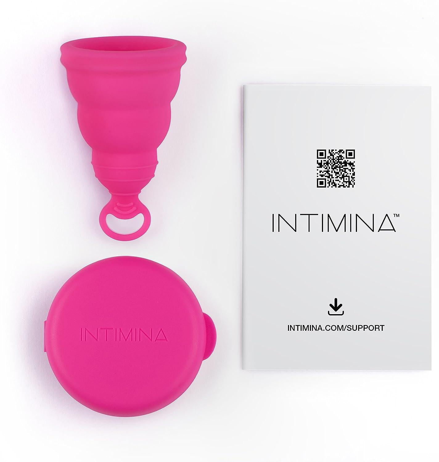 INTIMINA Lily Cup One – Copa menstrual compacta para principiantes con anillo de extracción
