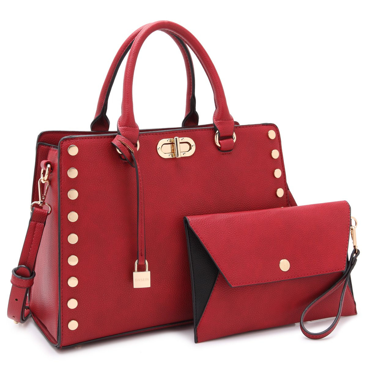 Designer Handbags Purses For Women Tassel Lock Satchel Bags Top Handle Shoulder Bag With Matching Wallet