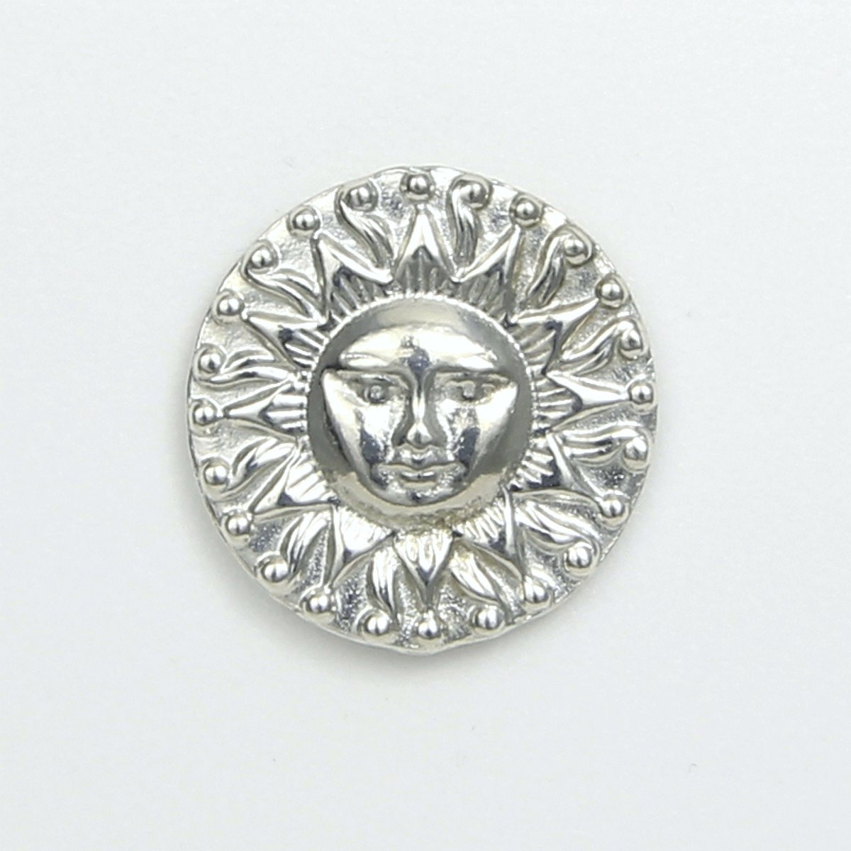 Radiant Sun Scarf Pin with Magnetic Back Closure - No holes in Clothes - Handcrafted Pewter Made in USA