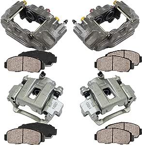 Premium Grade Loaded OE Calipers 4 Ceramic Brake Pads Kit REAR Callahan CCK02904 FRONT