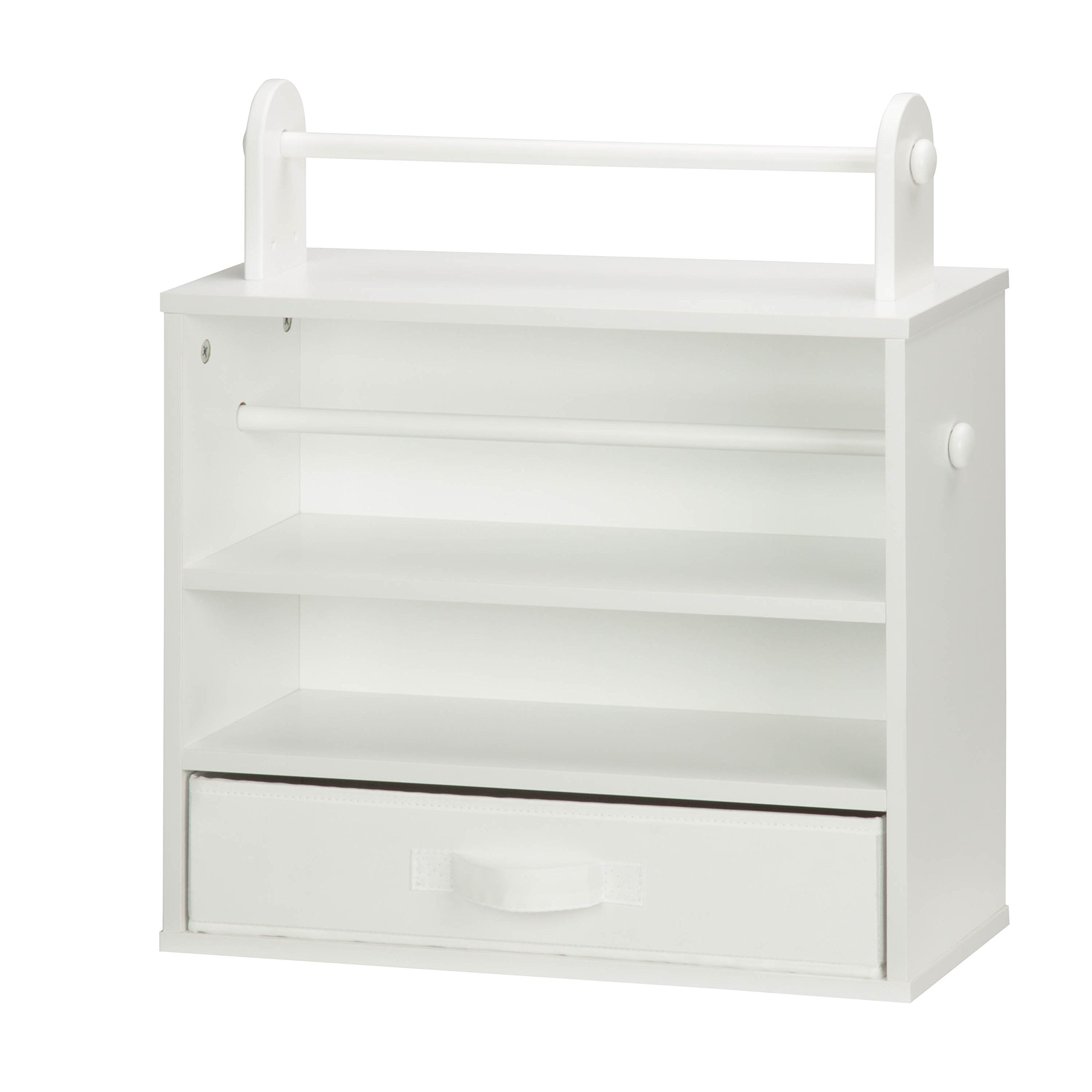 Honey-Can-Do CRT-06344 Tabletop Craft Storage Chest with Fabric Drawer, White by Honey-Can-Do