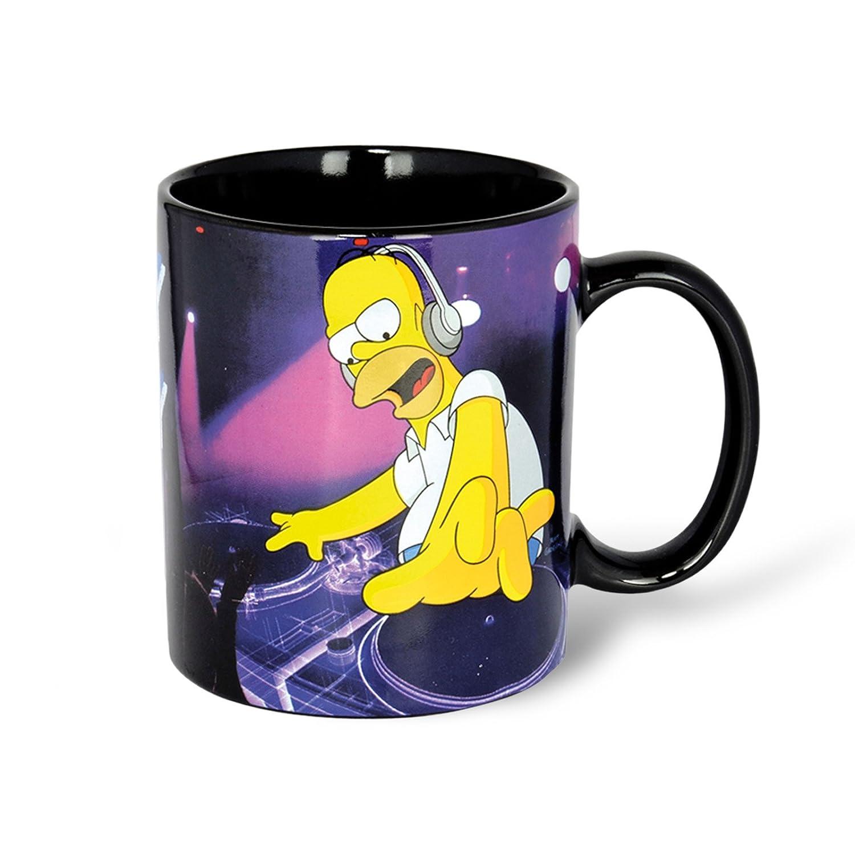 Los Simpsons - taza Homer modelo DJ Homey - en caja de regalohttps://amzn.to/2V1o9qM