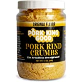Pork King Good Low Carb Keto Diet Pork Rind Breadcrumbs! Perfect For Ketogenic, Paleo, Gluten-Free, Sugar Free and Bariatric Diets (Original)
