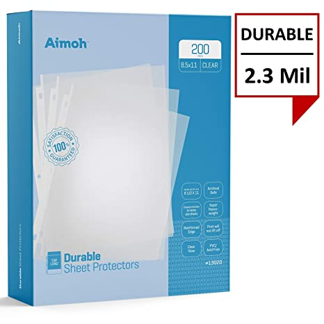 Amazon.com: Aimoh - Pack de 200 protectores de hojas ...