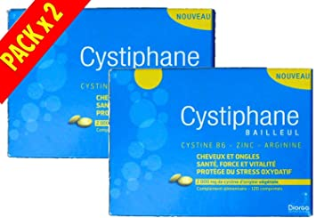 Amazon Com Biorga Cystiphane Hair And Nails Pack 2 X 120 Tablets