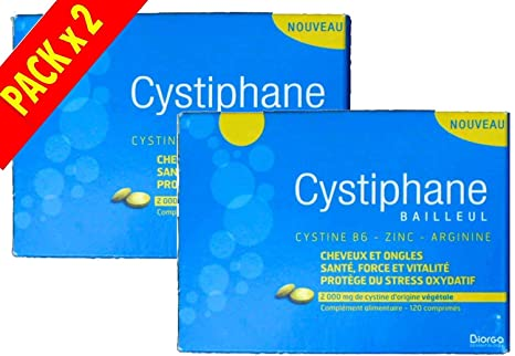 Cystiphane cabello y las uñas - Pack 2 x 120 Tabletas: Amazon.es ...