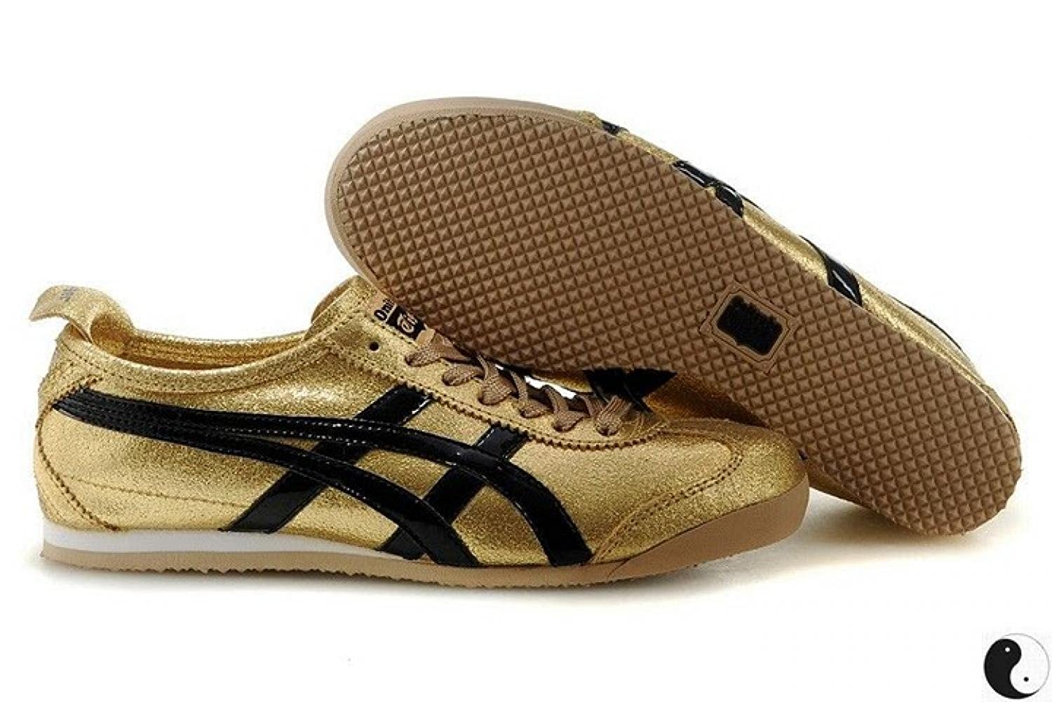 huge selection of bb02a 043fa Asics Onitsuka Tiger Scarpe Unisex Mexico 66 HL5B0 Gold ...