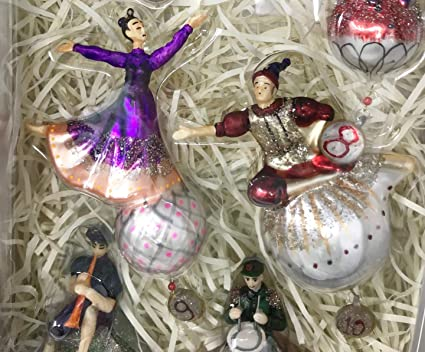 Twelve Days Of Christmas Ornaments.Amazon Com 12 Days Of Christmas 2016 Pottery Barn Glass