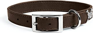 product image for Rockin Doggie Plain Leather Dog Collar, 1/2 by 8-Inch, Brown