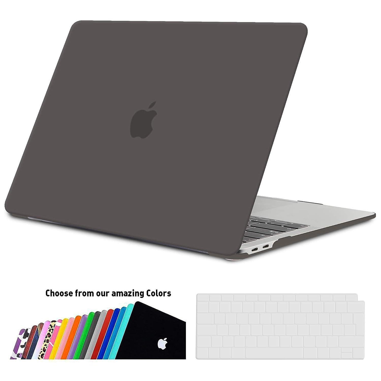 iNeseon Funda MacBook Air 13 2018, Carcasa Delgado Case Duro y Cubierta del Teclado Transparente EU Layout para MacBook Air 13.3 Pulgadas con Touch ID ...