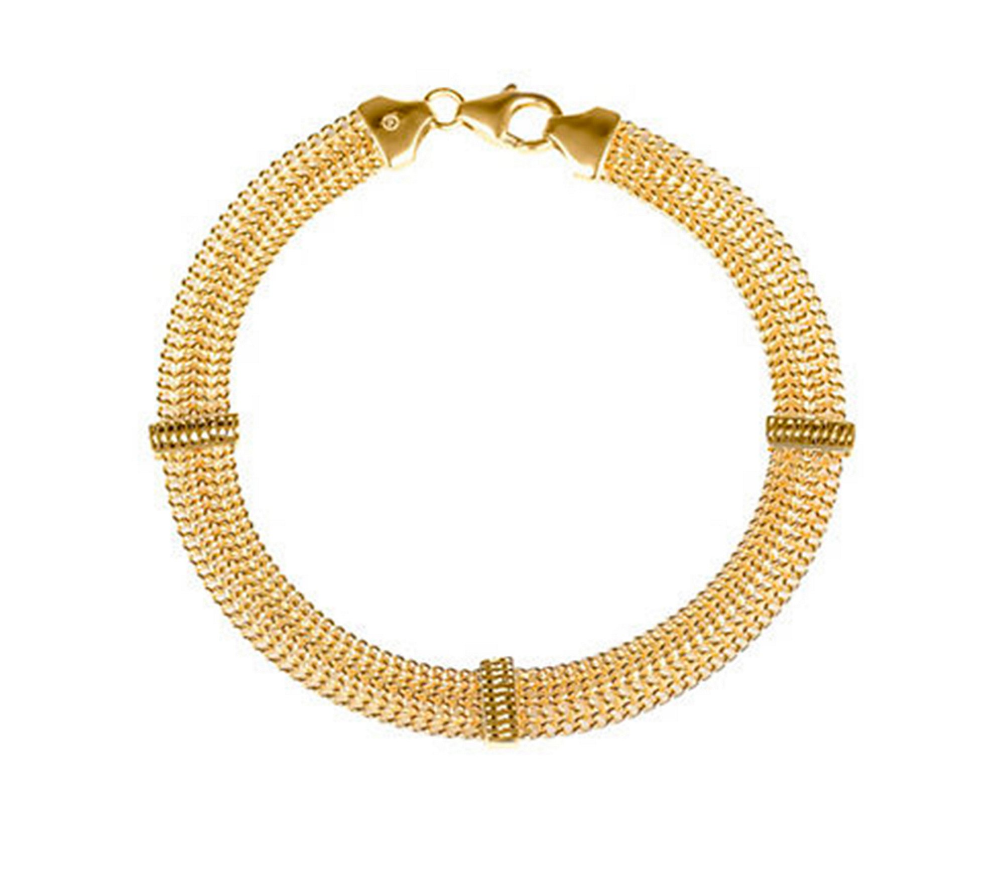 14K Yellow Gold Arrow Link Bracelet