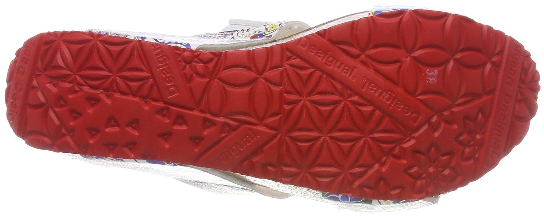 Desigual Damen Schuhes_Cycle Microrapport PlateauSandale Mehrfarbig Mehrfarbig PlateauSandale (3061 Rojo Roja) 28caeb