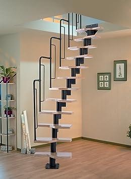 Graz Dolle ahorrar espacio en el espiral - escalera para desván Kit - de metal negro-trabajo (en stock): Amazon.es: Bricolaje y herramientas