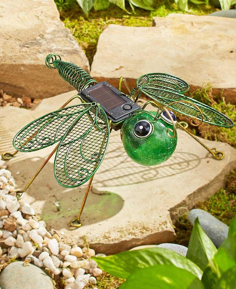 The Lakeside Collection Solar Garden Bugs- Dragonfly