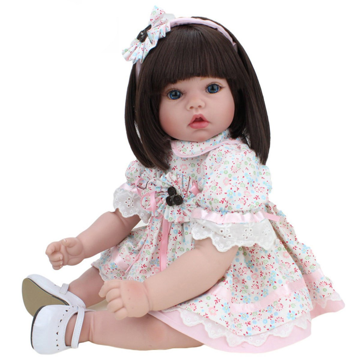 Reborn Baby Dolls Handmade Lifelike Realistic Silicone Vinyl Baby Doll Soft Simulation 22 Inch 55 Cm Eyes Open Girl Favorite Gift Yihang Processing plant