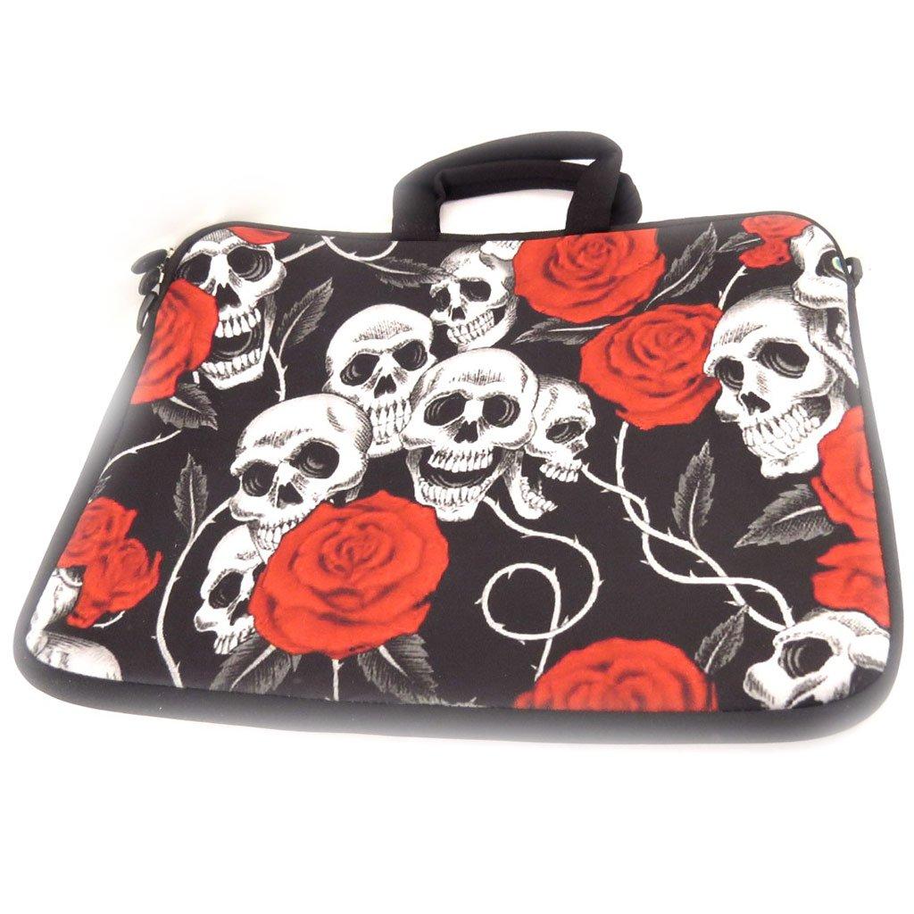 15 . Cover skull neoprene laptop