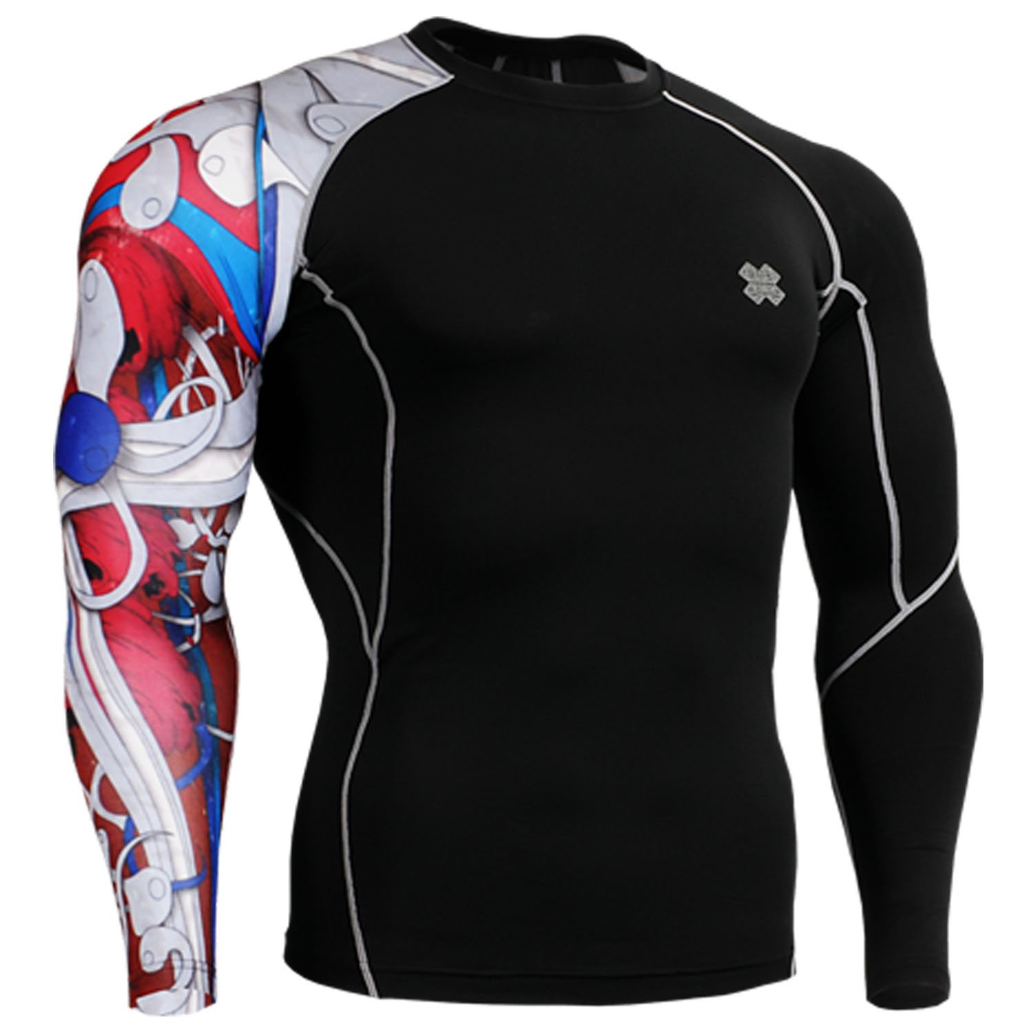 Fixgear men women under compression body armour base layer shirt long sleeve l