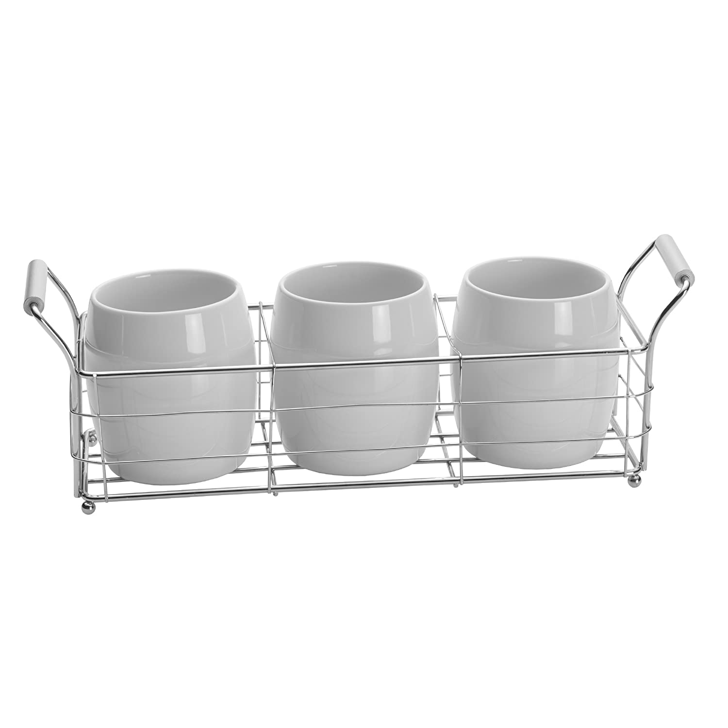 Towle Living Ceramic Wire Flatware Caddy Set, White 5135136