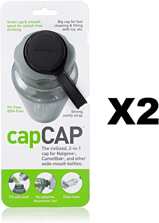 Narrow AND Wide Mouth Bottle Cap Nalgene CamelBak Black//Gray Human Gear CapCAP