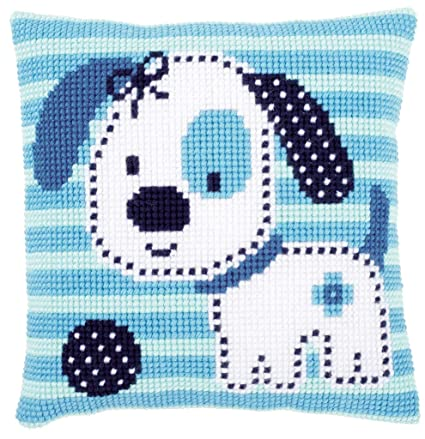 Amazon.com: Vervaco Spotted Little Dog Cushion Cross Stitch Kit