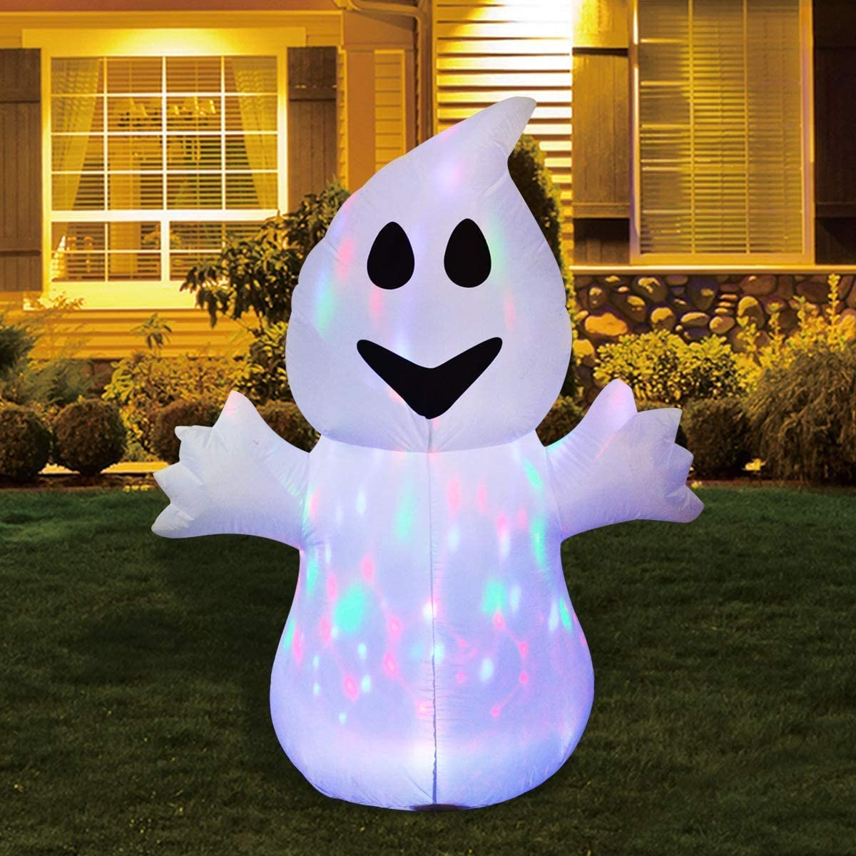 Amazon GOOSH 5FT Inflatable Halloween Ghost with The