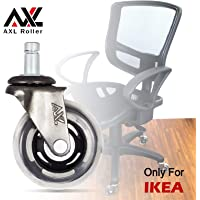 AXL 2.5 Inch IKEA PVCChair Wheels Office Chair Caster Replacement Heavy Duty, Casters for Hardwood Floors Safe, No Need for Chair Mats (2.5 INCH- Cross)