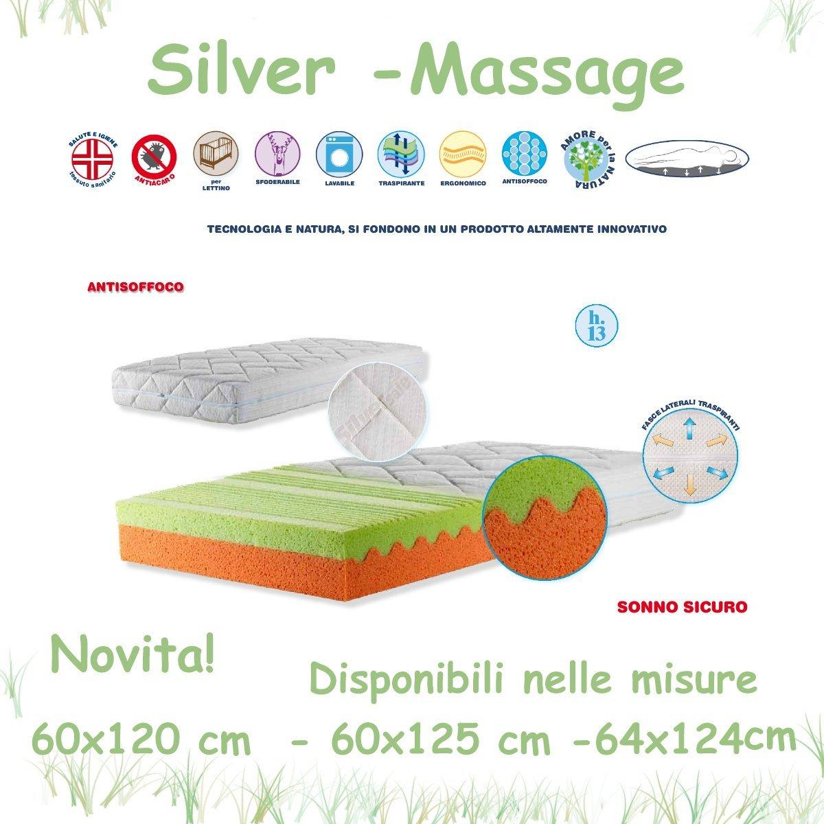 Colchón de Cuna Silver Massage Willy & Co. Alto 13 cm 64x124: Amazon.es: Bebé