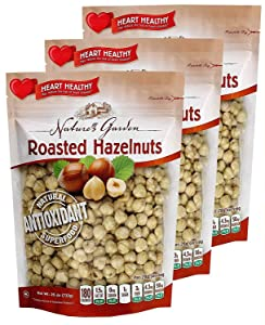 Nature's Garden Roasted Hazelnuts - Natural & Functional Snacks |Heart-Natural| Delicious & Tasty Flavor - Premium Quality - 26 Oz. (Pack of 3)