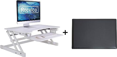 Rocelco 32″ Height Adjustable Standing Desk Converter