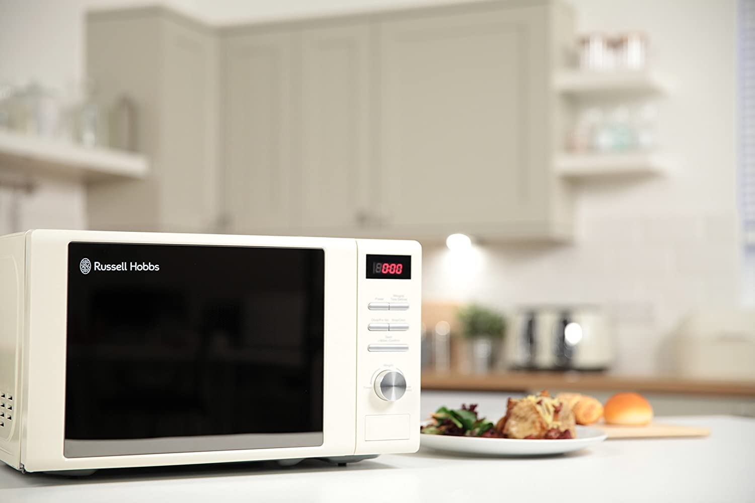 Aldi home sale catalogue special buys stirling 34l microwave oven - Russell Hobbs Rhm2064c Heritage Digital Microwave 20 Litre Cream Amazon Co Uk Kitchen Home