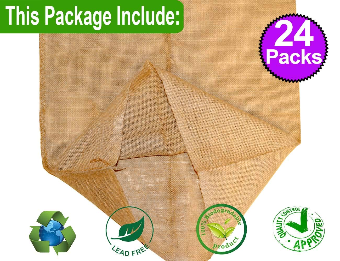 ToysOpoly Premium Burlap Potato Sack Race Bags 24 x 40 100/% Natural Eco-Friendly Jute Perfect Birthday Party Game for Kids /& Adults. - of Sturdy Rugged Pack of 12
