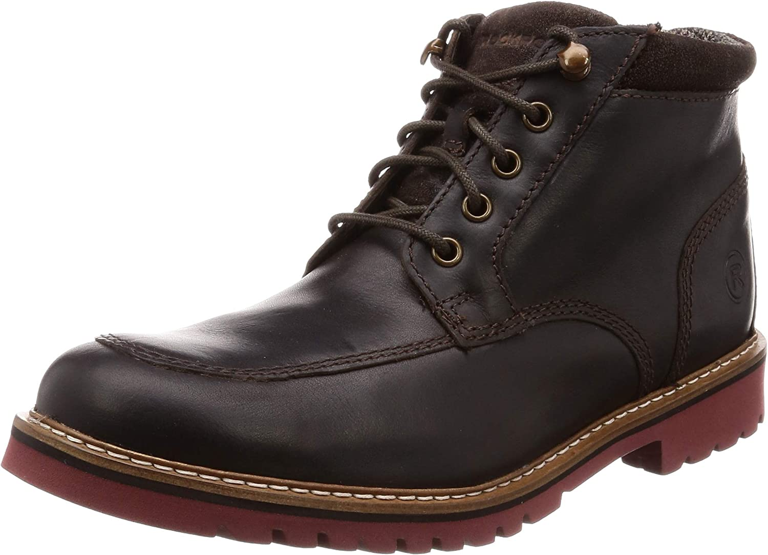 TALLA 40.5 EU. Rockport Marshall Rugged Mock Toe Boot, Botas Clasicas para Hombre