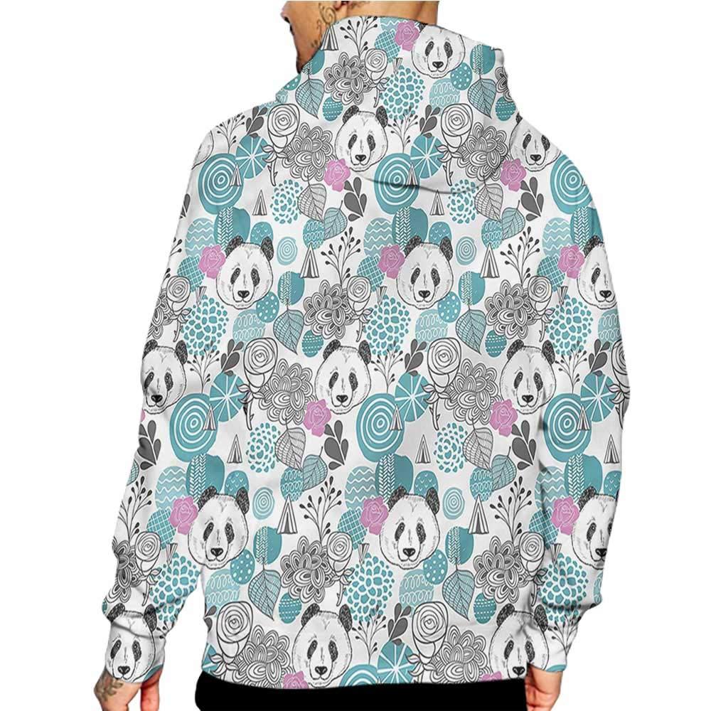 flybeek Hoodies Sweatshirt Pockets Paisley,Monochrome Flower Pattern,Sweatshirts for Boys