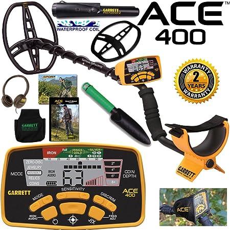 Garrett Ace 400 Metal Detector with Waterproof Coil and Headphone Plus Accessories