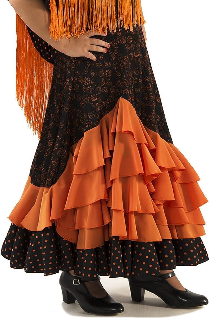 Anuka Falda de NIÑA para Danza Flamenco o sevillanas, Cinco ...